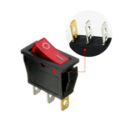 Large Rectangle Rocker On/Off Switch LED Lighted Car SUV Dash Boat 3-Pin SPST