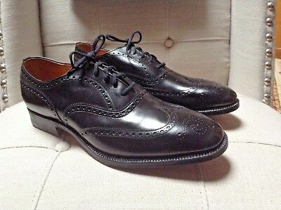 NWOB Church's Mens Custom Grade Black Leather Wingtip Oxford Shoes 9.5 D England