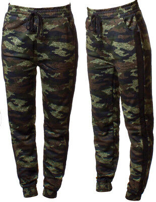 Womens Ladies Camouflage Jogging Bottoms Cuffed Tracksuit Trousers Pants S-2Xl