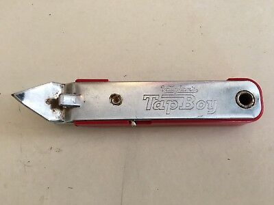 Used Vintage Vaughan's Red Tap Boy Bottle ,can Opener W/fold Out Corkscrew