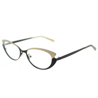 Lafont Tiphaine 181 Black Gold Metal Cat-Eye Eyeglasses 52mm