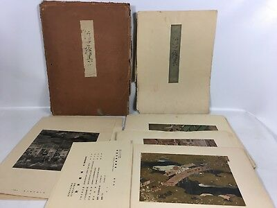 Lot of Antique Japanese Art Prints Large Oversize Folios Geisha Country