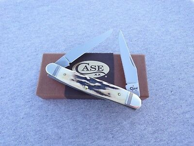 CASE XX *aa 2017 PRIME VINTAGE STAG MUSKRAT KNIFE KNIVES NEW ITEM