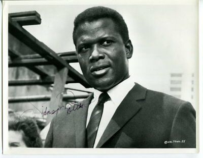 SIDNEY POITIER autograph HAND SIGNED 4195
