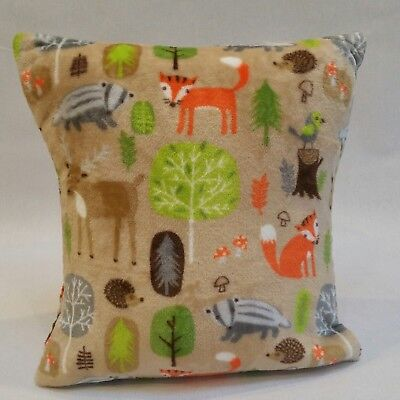 Cover Woodlands microfleece Childs cuddle cushion  16x16 LilleyBee