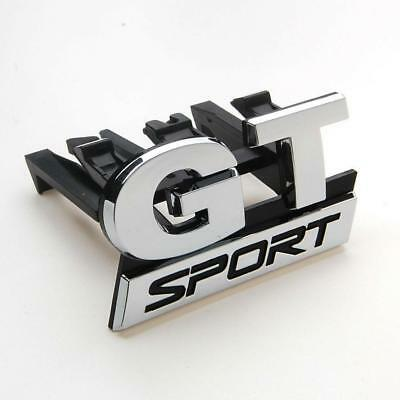Logo Car  Chrome GT SPORT Front Grill Grille Badge Emblem Car-styling Stickers
