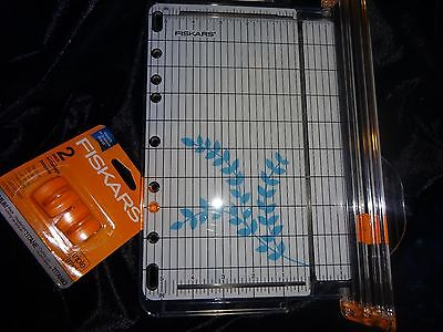Fiskars SureCut Paper Cutter & Trimmer also Card Making + 2 Free Extra Blades