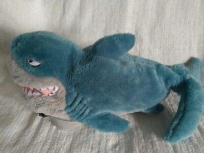 "Childs Disney Finding Nemo Bruce the Shark 20"" Backpack Bag plush"