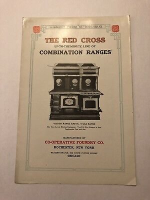 Early 1900s Red Cross Stove Ranges Rochester NY Advertising Booklet #B-21