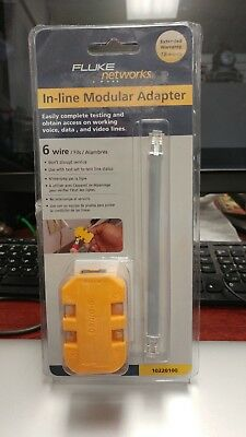 Fluke Networks In-Line Modular Adapter - 6 Wire - New In Package         0115185