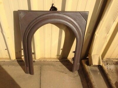 Antique Cast Iron Fireplace Surround Arched With Fan Motif ***sale***
