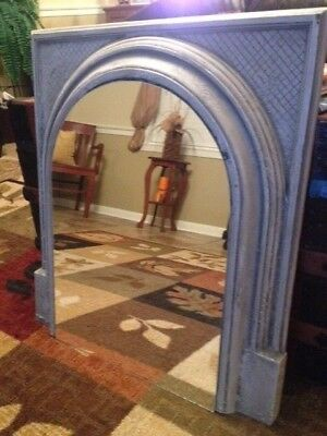 Antique Cast Iron Fireplace Surround With Mirror One Of A Kind!!!