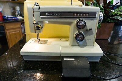 Vintage Sears Kenmore 158.16600 Sewing Heavy Duty Machine w/ Pedal and CarryCase
