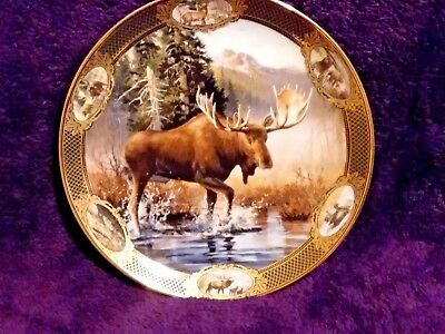 Franklin Mint MOOSE Collector Plate