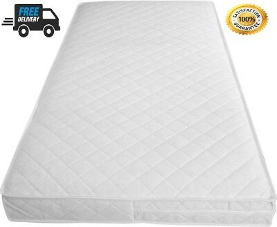 Baby Cot Bed Toddler Quilted Mattress Waterproof Breathable In All Sizes Quality