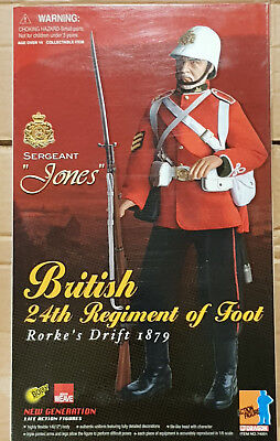 Dragon British 24Th Regiment Of Foot #74001  Did Hot Toy 1/6 Scale Action Figure