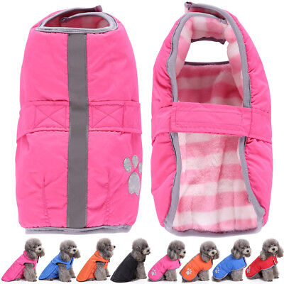 Waterproof Warm Winter Reflective Reversible Dog Coats Clothes Dog Pet Jacket