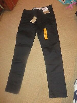 boys boy black skinny jeans 9-10 years new with tags adjustable waist