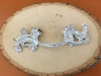 074 VTG French Provincial Handles In White Wash Shabby Chic 3 Available