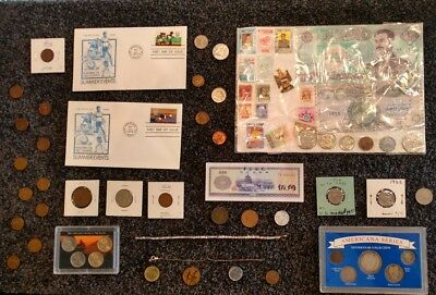 Junk Drawer Lot: Old US Coins 1866+, Silver Coins & Jewelry, VINTAGE LOT #2