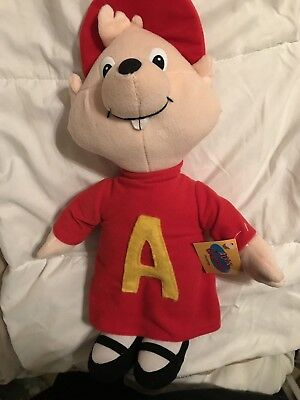 """Alvin And The Chipmunks Collection Plush Toy Stuffed Figure New with Tag 17""""  V"""