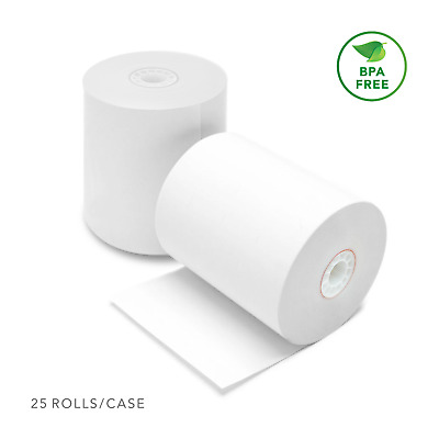 "Thermal POS Receipt Paper Roll 3 1/8"" X 220' (25 Rolls) for Clover Station"