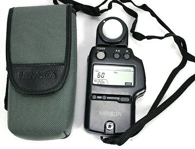 MINOLTA Auto Meter IV F Photography Flash Light Meter with Soft Case - Excellent