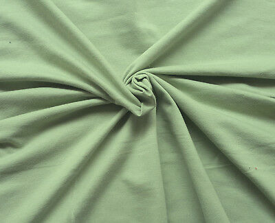 Vintage Green Cotton French Terry Knit Fabric by the Yard 12/13/17