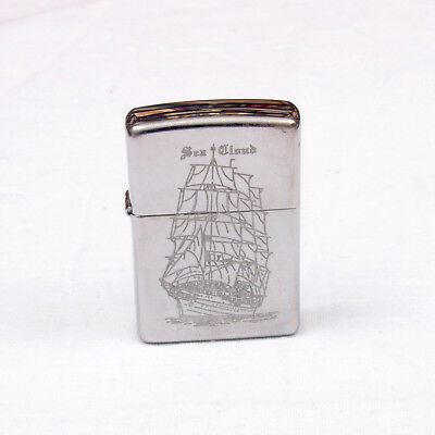 Zippo Lighter Sea Cloud Sailing Ship Polished Chrome K 09 Insert H 09 USA