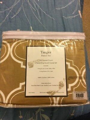 New In Package Tangier 3 piece Duvet SET King UNOPENED