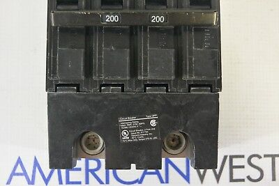 Q2200B Siemens 200 amp Main Circuit Breaker 240 volt 2 Pole 120/240v TESTED