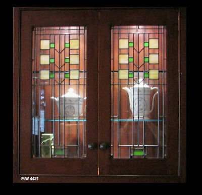 Beautiful Genuine Cabinet Door  Stained Glass inserts