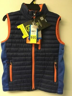 FREE COUNTRY POWER DOWN VEST BOYS KIDS SIZE M-10/12 Navy