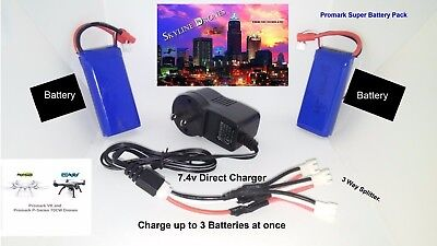 Promark Drones VR-P70 & CW MEGA 2 Battery Pack  + 3/Way  Rapid Charge System