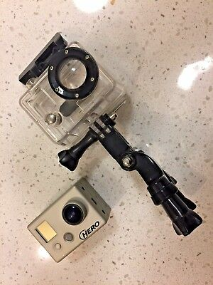 GoPro Hero Camera with waterproof case and handlebar mount