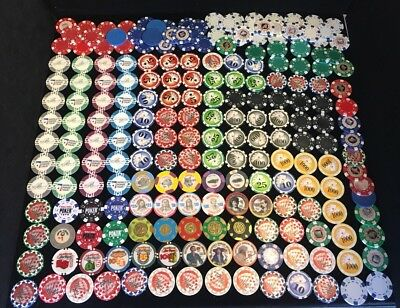Collection Of Rare Clay Poker Chips, Including Paulson Sets 200+ Chips