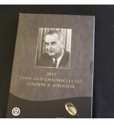 ^_^ 2015 Coin and Chronicles Lyndon B. Johnson Set Reverse Proof Complete