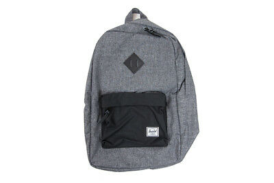 8ca9bf19dfdc Herschel Supply Co. Heritage Backpack in Raven Crosshatch Black NWT Free  Ship