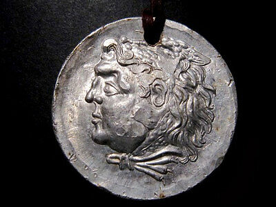 BEAUTIFUL REPLICA OF A ALEXANDER The GREAT TETRADRAHM COIN w/ STRAP
