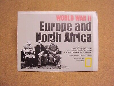 NATIONAL GEOGRAPHIC DECEMBER 1991 Map WW II Europe & North ...