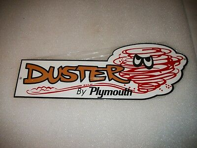 """Plymouth Duster 12"""" Metal Car Gas Oil Sign!"""