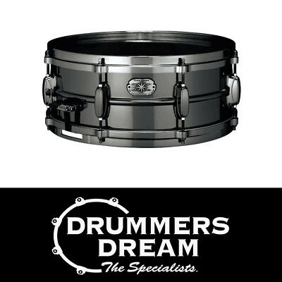 "TAMA Metalworks 14x5.5"" Steel Snare Drum - MT1455DBN w/ Evans Black Chrome Head"