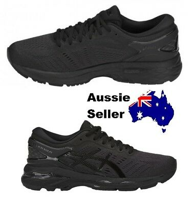 NEW! Asics Adult Womens Kayano 24 Triple Black Running Gym T799N 9090 RRP $260