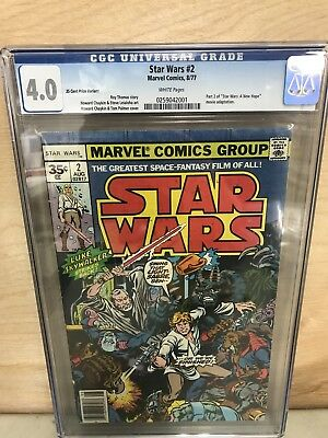 Star Wars #2 Cgc 4.0 35 Cent Price Varient .35 White Pages