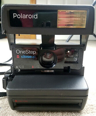 Polaroid One Step Close Up 600 Film Camera With Strap Working