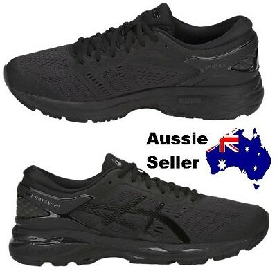 NEW! Asics Adult Mens Kayano 24 Train Running Triple Black T749N 9090 RRP $260