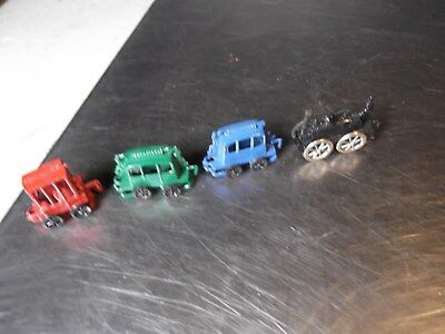 Vintage Shackman Old Time Miniature Cast Metal Train Set