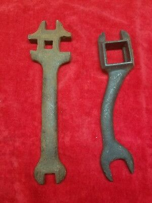 Farm implement wrench tool unusual plow tractor vtg antique old