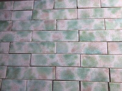 Set Vintage Victorian Fireplace Antique TILE TILES MANTLE Rose Fern NT Co. 75pcs