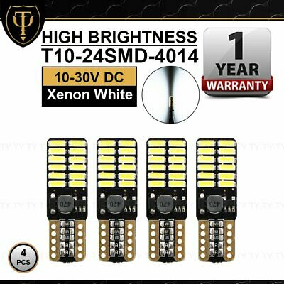 4 X T10 Extremely Bright LED W5W 194 4014 24 SMD Lecense Plate Dome Map Lights